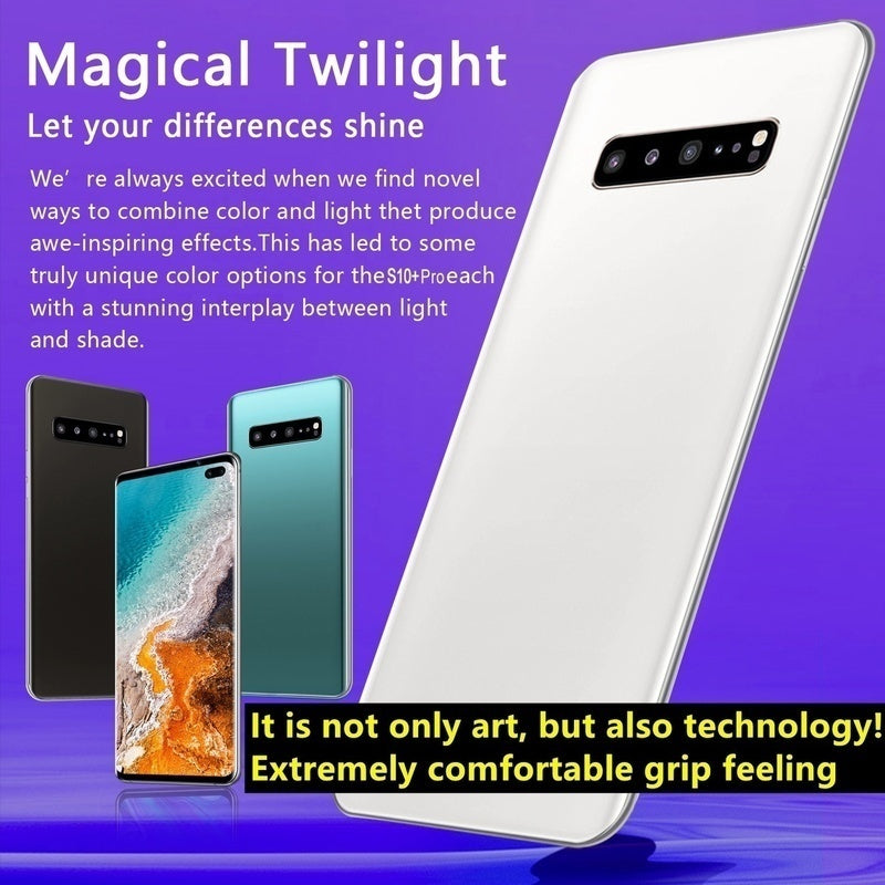 2019 New Fashion 6.5 Inch Dynamic AMOLED Screen 4G Android Smartphone S10+