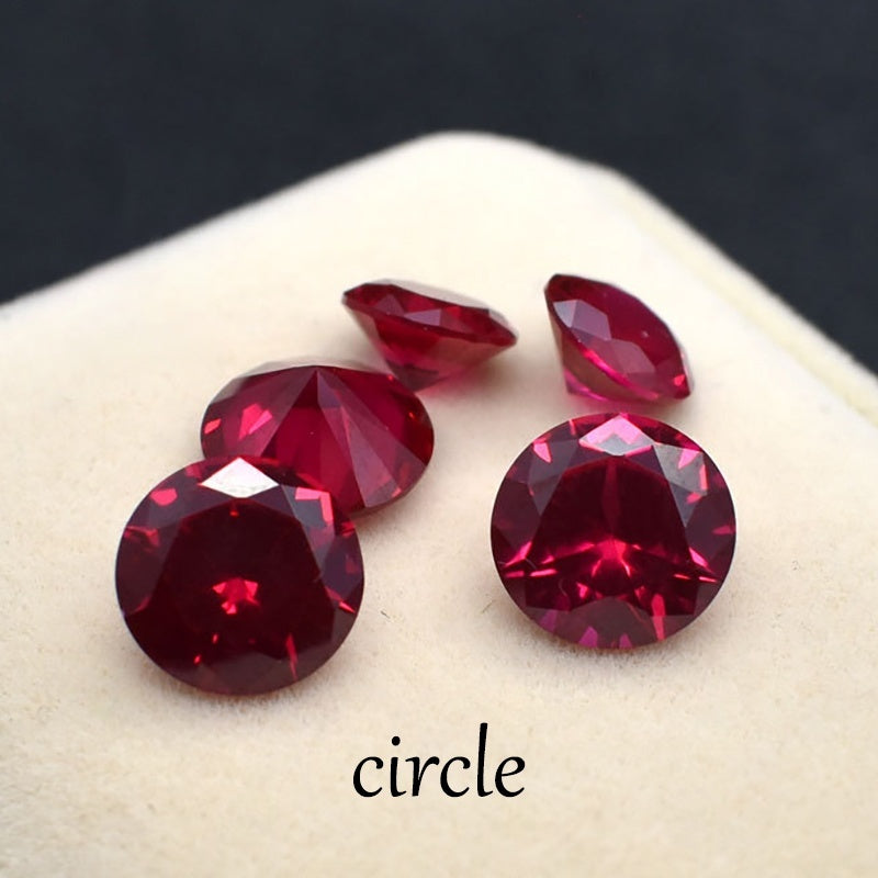 Wisdom and Guardian Stone 3A Mozambique Ruby Corundum Spinel Various Shapes Mosaic Jewelry Diy Pigeon Blood Red AAA 5-7MM