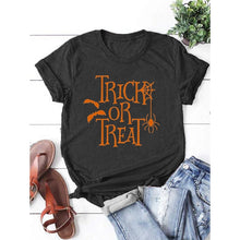 Load image into Gallery viewer, Women's Fashion Tops Casual Short Sleeve Round Neck Halloween Shirts T-shirts