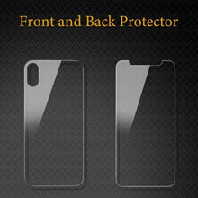 Load image into Gallery viewer, HD Clear 2pcs/lot Front Back Tempered Glass Screen Protector for IPhone Xs Xs Max Xr X Protecor Glass Film for IPhone 6 7 8 Plus X Xs Max