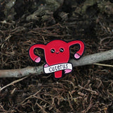 Feminism hurray! 'Cuterus'Uterus Shape Enamel Pins Pink Red Brooches feminism icons Pin Badge Button for Doctor Nurse Gift Pins