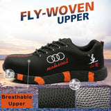 Men's Fashion Soft Bottom Safety Shoes Anti-smashing Anti-puncture Safety Work Shoes Insulation Protective Shoes