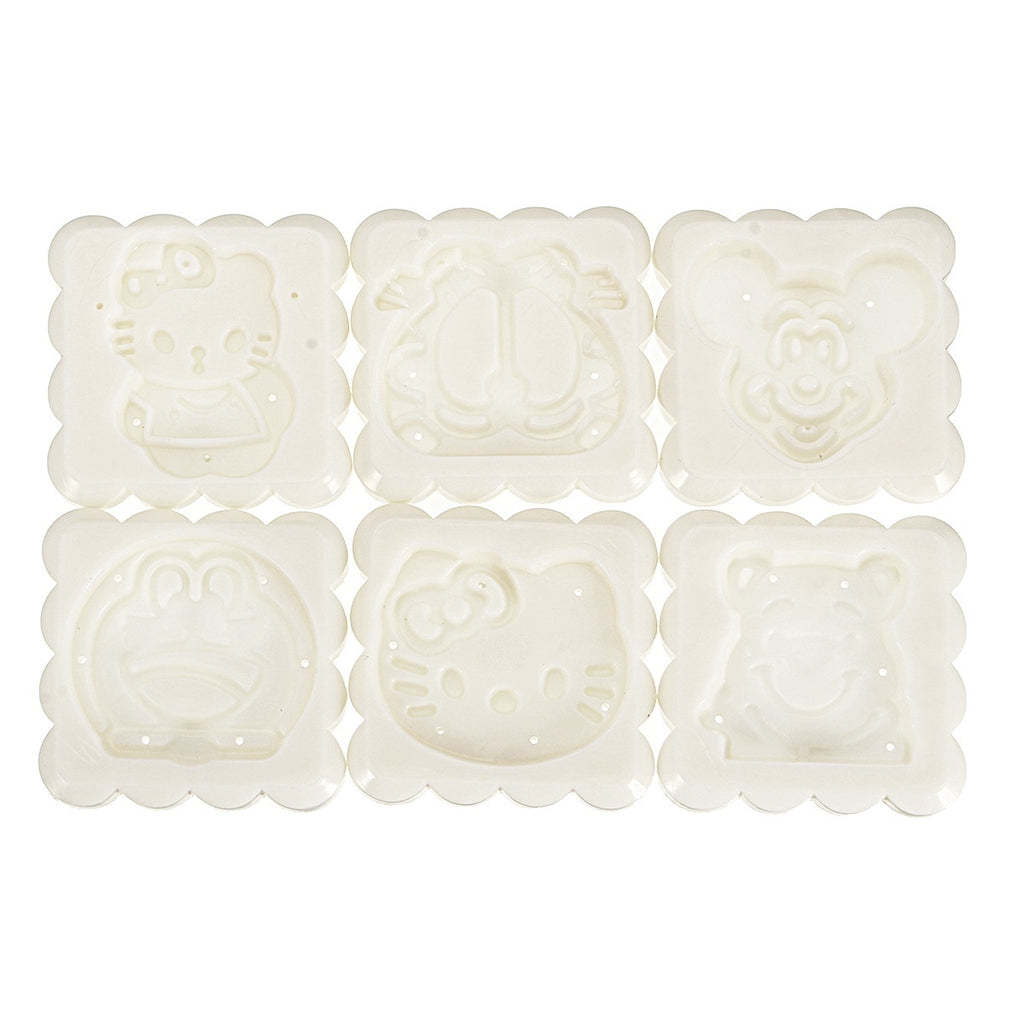 1Set Round Square Mooncake Mold Moon Cake Decoration Mould Stamp DIY Tool + Stamps