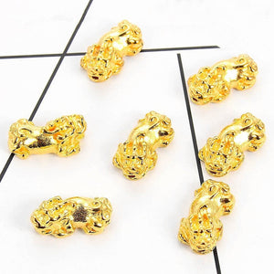 4pcs Pixiu Beads Fengshui Lucky Pixiu Beads Wealth Piyao Beads Good Luck for Wealth DIY Bracelet Pixiu Beads Jewelry Accessories