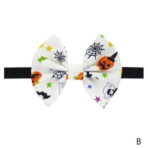 Halloween Children Dress Up Headdress Baby Pumpkin Head Elastic Bow Hair Band