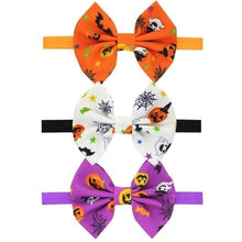 Load image into Gallery viewer, Halloween Children Dress Up Headdress Baby Pumpkin Head Elastic Bow Hair Band