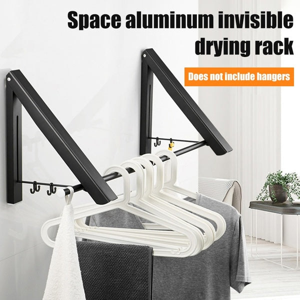 Folding Clothes Hanger Foldable Multifunction Wall Mounted Clothes Rail Drying Rack