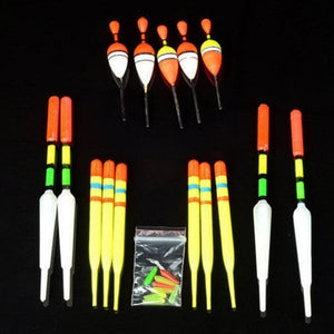 15Pcs Fishing Lure Floats Bobbers Slip Drift Tube Indicator Assorted Sizes