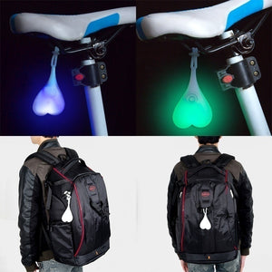 Creative Bicycle Night Riding Silicone Taillights Funny Egg Lamp Hanging Ornament Outdoor Safety LED Warning Lights