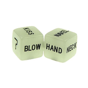 3 Pair / 6 Pcs Erotic Dice Game Toy Sex Party Fun Adult Couple Glow in the Dark Luminous