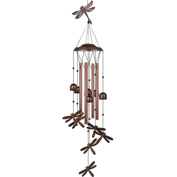 Dragonfly Wind Chime Unique Outdoor with 4 Aluminum Tubes Soothing Melody Wind Chimes for Outdoor