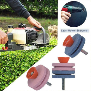 2 Layer / 4 Layer Electric Grinding Blade Home Garden Tools Fastest Blade Sharpener Universal Grinding Rotary Drill Cutting Machine Mower Blade Sharpening