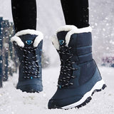 ZCHJK 2019 Women's Fashion Winter Boots Ankle Warm Boot Casual Outdoor Shoes Plus Size 35-42