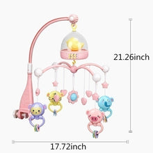 Load image into Gallery viewer, Newborn baby remote bed bell 0-12 months cute music crib mobile baby toy smart timing / detachable teether