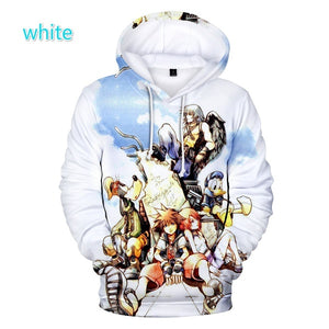 Hip Hop Fall Winter New 3D kingdom hearts Hoodies Men/Women Hoodies Hot Anime kingdom hearts Sweatshirt For Couples Sweatshirt
