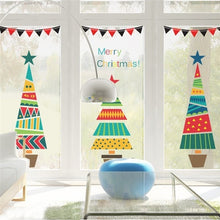 Load image into Gallery viewer, 49x52cm Merry Christmas Tree Star Wall Stickers Home Decals Living Room Decorations DIY PVC Festival Window Decor