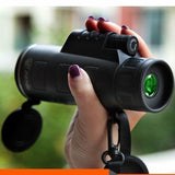 Extra Long Compass Flashlight+infrared Distance Night Vision High - Angle Monocular Telescope Laser Outdoor Hiking Travel Portable Telescope Fashion Accessories Tool