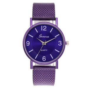 Stainless Steel Mesh Watch Ladies Unique Arabic Numbers Watches Casual Women Men Quartz Wristwatches