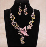 Fashion Acrylic Alloy Earring And Necklace Jewelry Sets