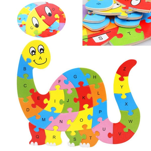 Children 26 Letters Animal Shape Jigsaw Puzzles Toy