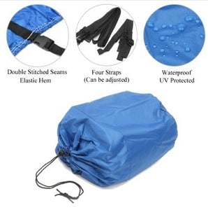 11-22 inches V-Hull Boat Cover 300D Heavy Duty Fishing Ski Boat Cover Waterproof Blue Gray Waterproof Kit