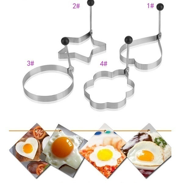 Stainless Steel BBQ Fried Egg Shaper Pancake Mould Mold Kitchen Cooking Tools kitchen gadgets kitchen stuff utensilios de cozinha
