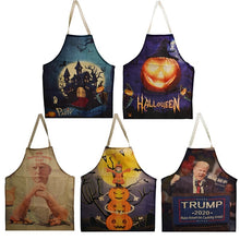 Load image into Gallery viewer, Funny Donald Trump Apron BBQ / Cooking Apron Halloween Unisex Kitchen Bib 2020 Make America Cooking Again