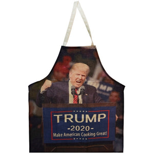 Funny Donald Trump Apron BBQ / Cooking Apron Halloween Unisex Kitchen Bib 2020 Make America Cooking Again