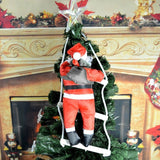 Santa Claus Climbing Stairs Christmas Tree Decoration Large Size With Stair