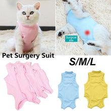 Load image into Gallery viewer, Cat/Dog Professional Surgical Recovery Suit for Abdominal Wounds Skin Diseases Cotton Pet Surgery Jumpsuits