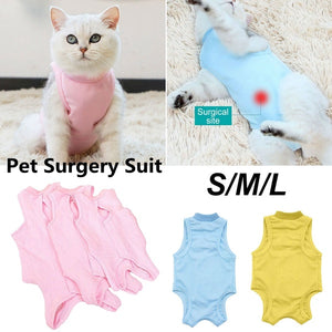 Cat/Dog Professional Surgical Recovery Suit for Abdominal Wounds Skin Diseases Cotton Pet Surgery Jumpsuits