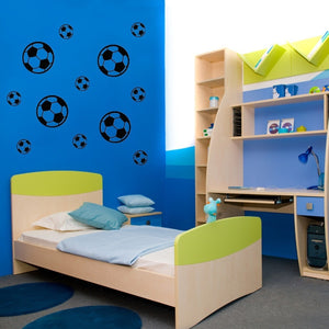 12Pcs Football Soccer Wall Stickers Wall Decal Nursery Boys Bedroom Decoration
