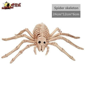 5 Styles Simulation Animal Skeleton Bones Movable Bones Skeleton  For Haunted House Party Decor Horror Halloween Decoration Props(Bat/Mouse/Lizard/Spider/Scorpion )