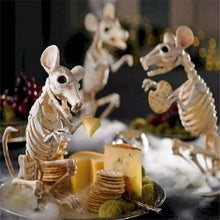 Load image into Gallery viewer, 5 Styles Simulation Animal Skeleton Bones Movable Bones Skeleton  For Haunted House Party Decor Horror Halloween Decoration Props(Bat/Mouse/Lizard/Spider/Scorpion )