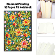 Load image into Gallery viewer, 50/64 Pages Office Supplies Painting Gift Rhinestone Diamond Painting Notebook A5 Notebook DIY Diamond Painting Kit 5D Diamond Embroidery Full Rhinestone Cross Stitch Diamond Painting