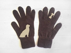 Women Fashion Gloves Cute Animal Printed Gloves Knitted Full Finger Gloves Winter Warm Women Gloves One Size