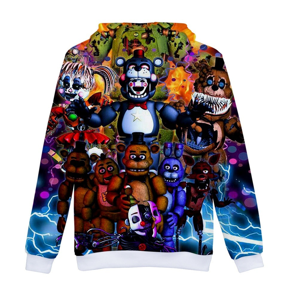Boys Girls Fashion 3d Five Nights at Freddy Printed Hoodies Kids Pullover Streetwear Sweatshirts
