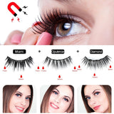 6/3 Pairs Magnetic False Eyelashes & Magnetic Liquid Eyeliner & Tweezer Set Waterproof Long Lasting Eyelash Extension