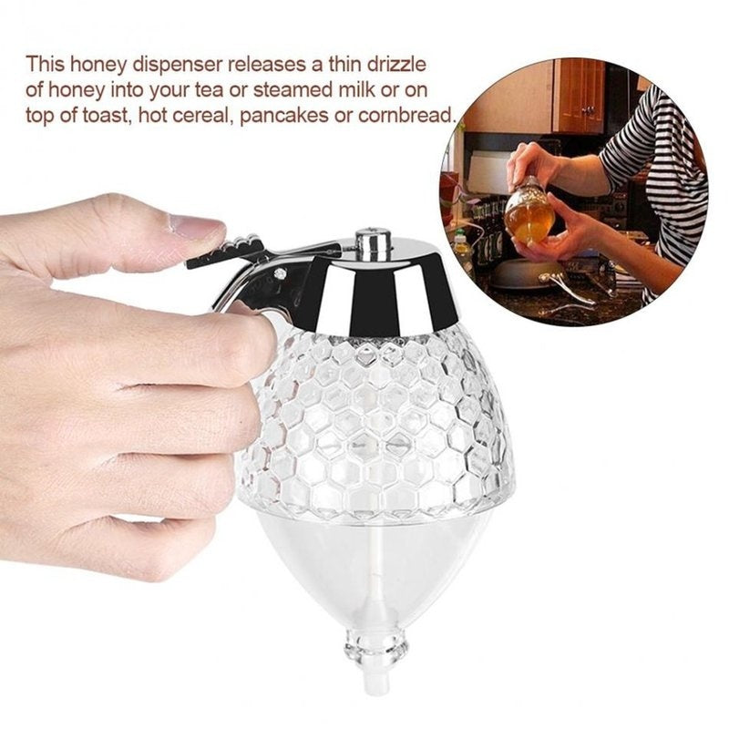 Squeeze Bottle Honey Jar Container Bee Drip Dispenser Kettle Storage Pot Stand
