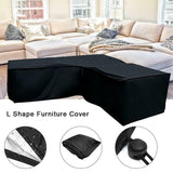 L Shape Sofa Dust Rain Cover Patio Garden Outdoor Furniture Cover  Waterproof UV Protector Cover
