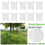 10Pcs 30x45cm Garden Flag Indoor Outdoor Home Decor Christmas Winter Snowflake Flag Halloween /Easter Garden Flag Blank Flag