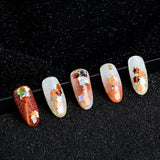 Flash Light Spangles Maple Leaf DIY Decoration Nail Art Sequin Laser