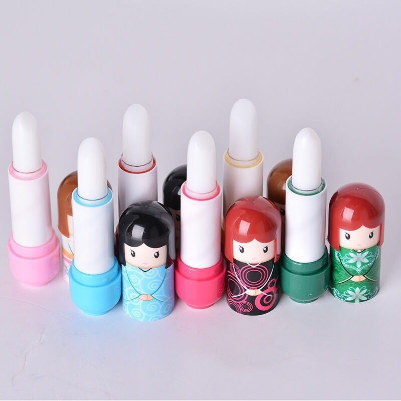1pcs Cute Japanese Doll Herbal Fruity Lip Balm