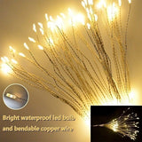 80/100/120/150/180 LED DIY Fireworks LED Fairy String Light Remote Control Garland for Outdoor Christmas Decoration (not Include Battery)