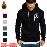 Autumn and Winter Men and Women Hooded Pullovers Juventus Letters Casual Sports Hooded Long-sleeved Hoodie Slim Sports Hoodie