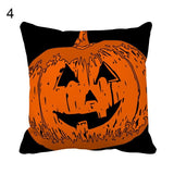 Halloween Pumpkin Style Throw Pillow Cover 45cm X 45cm Pillowcase Home Decoration Polyester Sofa Cushion Cover Living Room Bedroom
