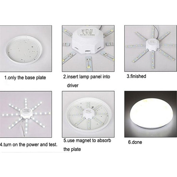 LED Ceiling Lamp Octopus Light 12W 16W 20W 24W LED Light Board 220V 5730SMD Energy Saving Expectancy LED Lamp Cold Warm white