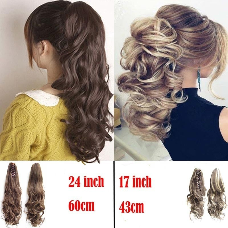 17 Inch/24inch Long Hair Bun Wig PonyTail Matte High Temperature Silk Chemical Fiber Claw Clip New Arrival