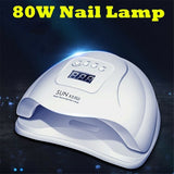 Big Sale!  80W Nail Dryer LCD Display 36 LED UV Lights Nail Dryer Lamp For Curing Gel Auto Sensor Timer Nail Manicure