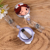 Cartoon Doctor/Nurse/Fruit Shaped Name Badge Clips ID Card Name Tag Holder Clips
